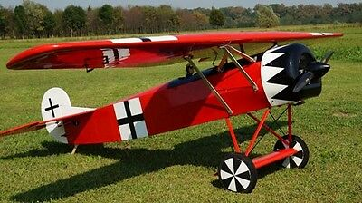 Giant 1/3 Scale Fokker D-8 scratch build r/c Plane Plans  111 in. wingspan