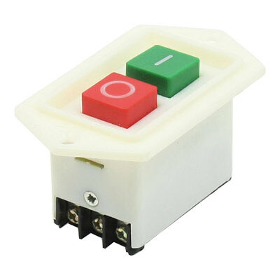 2 Position Latching DPDT Red Stop Green Start Push Button Switch AC 380V 10Amp