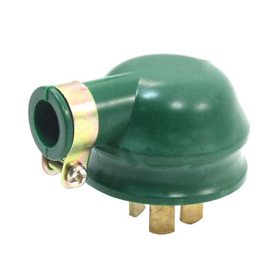 Flat Pin 1 Phase 3 Wire 1P3W Rewirable Industrial Plug 16A AC 250V Green