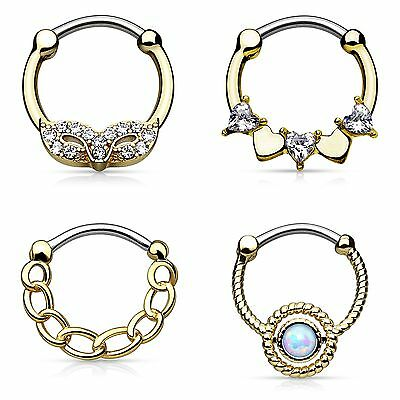 Nasenpiercing Nasenring Septum Clicker Ring Helix Cartilage Schild Ohr Piercing