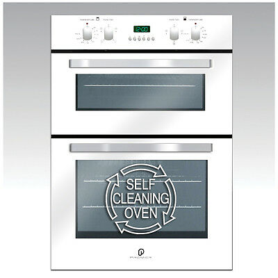 60cm PRX White Built-In Electric Self Cleaning Double Oven - Energy Rate A