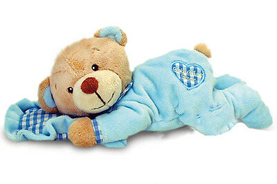 BLUE Baby's First Teddy Bear with Pillow by Keel Toys
