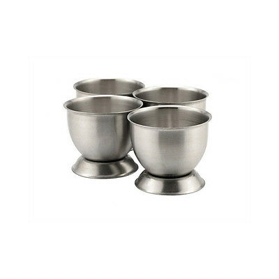 Stainless Steel Egg Cups Carded x 4 X505/4