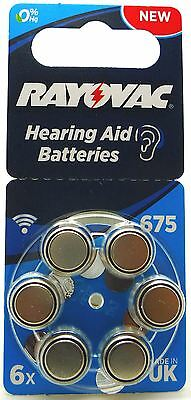 Rayovac Acoustic Special Mercury Free Hearing Aid Batteries (6 Pack) - Size 675