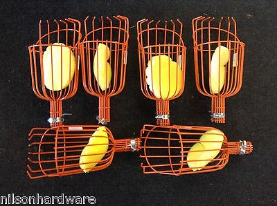 6 Pk Fruit Picker Basket Fresh Orange Apple Plum Pear Vinyl Coated Wire Finger