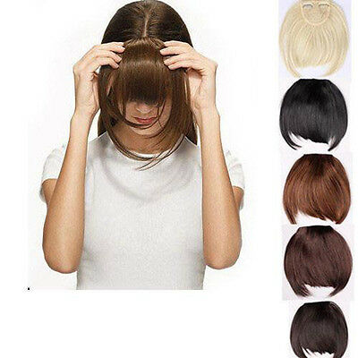 Any Colour Black Brown Ash Blonde Clip in Bangs/Fringe Hair Extensions Piece i1