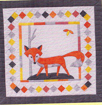 Fox In A Box - fun pieced & applique quilt PATTERN - Stitchin Sisters