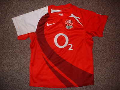 England Rugby Union Boys Small 8-10yrs Shirt Jersey Nike World Cup Change Girls