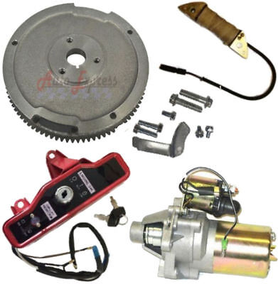 Electric Start Kit Flywheel Starter Motor Ingnition Honda Gx340 11Hp Gx390 13Hp