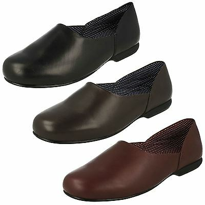 Mens Clarks Leather Slip On Classic House Slippers - Harston Lounge