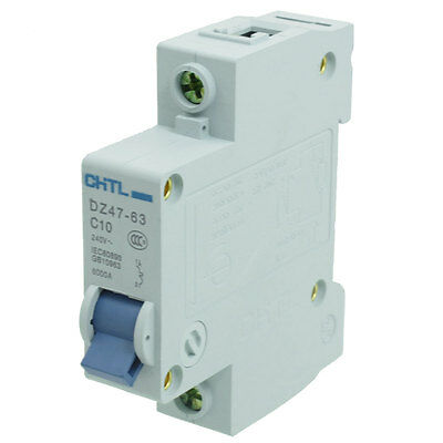 AC 240V Rated Current 10A 1 Pole MCB Air Circuit Breaker