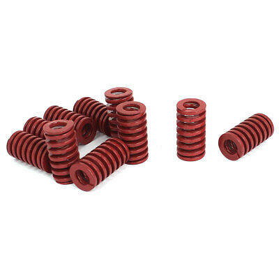 16mm OD 30mm Long Medium Load Stamping Compression Mold Die Spring Red 10pcs
