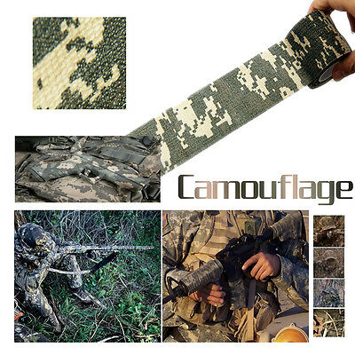 HOT Survival Kit Camo Outdoor Hunting Camping Camouflage Stealth Tape Waterproof