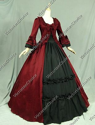 Renaissance Victorian Gothic Dress Ball Gown Steampunk Christmas Costume 257