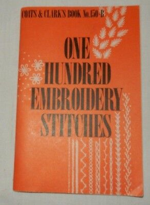 """1979 Vintage 100 One Hundred Embroidery stitches Coats & Clark""""s"""