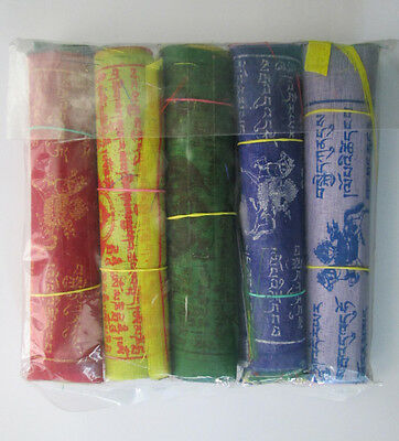 Tibetan Buddhist Prayer Flags For Sale 5 Rolls Handmade From Tibetan Monastery