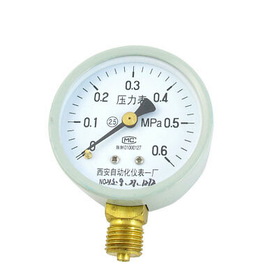 0-0.6MPa 1/4PT Threaded 2.5 Accuracy Measuring Air Pressure Gauge 53mm Dial