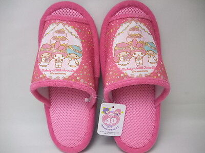 Sanrio My Melody Little twin stars 40th pink slipper NWT from JAPAN 2015
