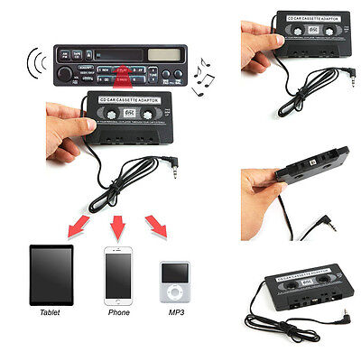 Universal 3.5mm AUX Car Audio Cassette Tape Adapter Transmitters for MP3 IPod CD