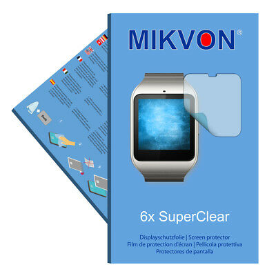 6x Mikvon films screen protector SuperClear for Sony SmartWatch 3