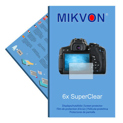 6x Mikvon films screen protector SuperClear for Canon EOS 750D