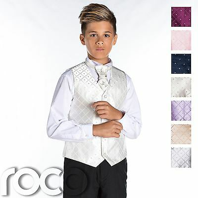 Boys Waistcoat Suit, Page Boy Suit, Boys Formal Suit, Boys Wedding Outfit