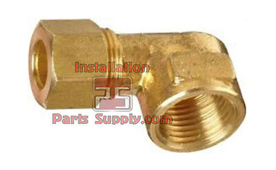 "(2) 1/4"" Compression x 1/4"" Female NPT Lead Free Elbow Water Air Hose Fitting"