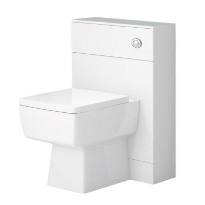 500 x 200mm Back to Wall BTW WC Toilet  Unit Soft-Closing Seat & Cistern