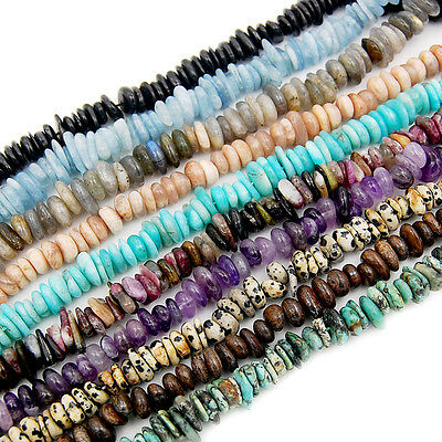 "7x10-10x13mm  Natural Gemstone Nugget Freeform Spacer Beads 15.5"" Pick Stone"
