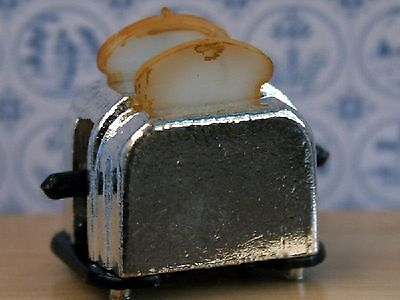Dolls House Miniature 1/12th Scale Toaster with 2 Slice of Toast (non working)