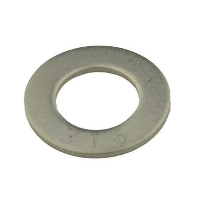 """Qty 100 Flat Washer 3/8"""" x 3/4 x 18g Marine Grade Stainless Steel SS 316 A4"""