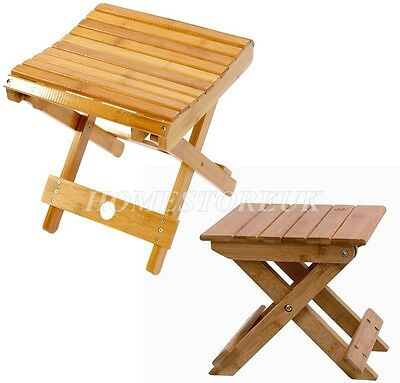 Bamboo Wood Wooden Stool For Kids Picnic Fishing Folding Seat Foldable Legs