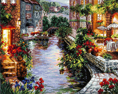 """Counted Cross Stitch Kit WONDERFUL NEEDLE - """"Evening in Venice"""""""