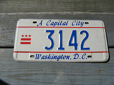 District Of Columbia Dc License Plate Nice Tag Buy It Now. Low Number 3142