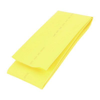 Yellow 70mm Diameter 2:1 Polyolefin Tube Sleeving Heat Shrink Tubing 1M 3.3Ft