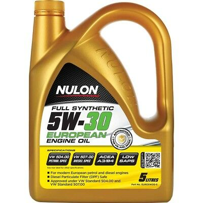 Nulon EURO Full Synthetic Car Diesel or Petrol Engine Oil 5W-30 5 Litre