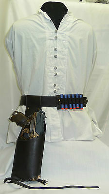 Steampunk Faux Leather Drop Leg Holster - Nerf Hammershot/Strongarm + other accs