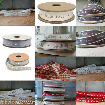 Mr and Mrs, With Love, Wedding Ribbon, Celebration Ribbon East of India Ribbon