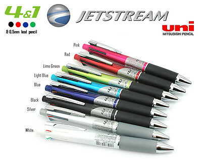0.7mm Uniball Jetstream 4&1 Multi Pen Mechanical Pencil + 4 Ink Multipen Refill