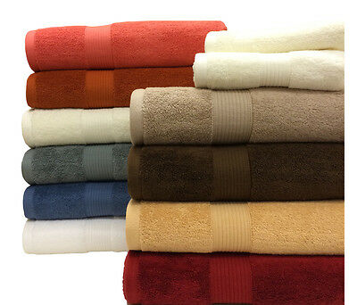 Royal Tradition Plush Cotton Ultra Soft and Absorbent Two Bath Sheets (Set 2)