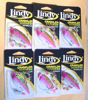 CARD OF 6  LINDY CRAWLER HARNESSES LSR7078 #6 COLORADO-SHAD