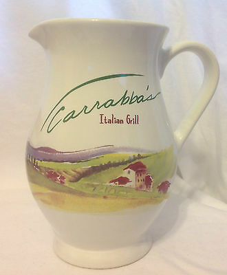 Carrabbas Italian Grill Salute Johnny & Damian Pitcher Hall 2455 Ceramic Ec