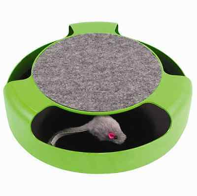 Catch The Mouse Cat Kitten Toy Scratching Claw Care Mat Motion Plush Moving Toy