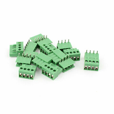 8 Pair Pitch 3.96mm 4way/pin Screw Green Pluggable Terminal Block Connector