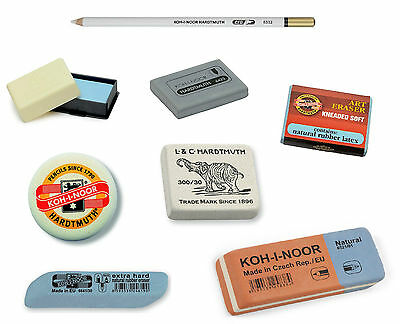 Pencil Eraser Rubber Koh-I-Noor Kneaded Soft Hard Pen Ink Putty Kneadable Artist