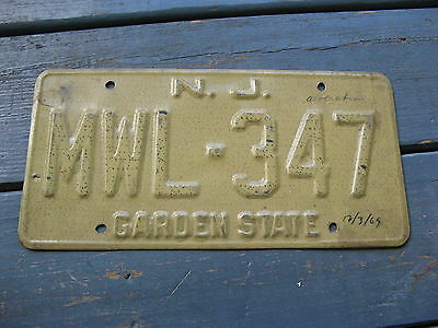 1969 69 New Jersey Sample License Plate Tag Buy It Now= Original Prototype