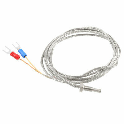 2 Spade Terminal K Type 0-400C Thermocouple Temperature Sensor Probe 6.6Ft