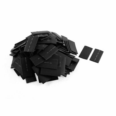 150pcs 16mm Dia Polyolefin 2:1 Heat Shrink Tubing Wire Wrap Sleeve 50mm Black