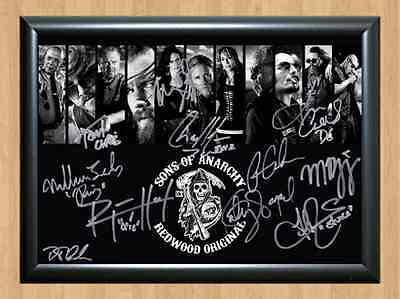Sons of Anarchy Redwood Cast Signed x11 Autographed A4 Print Poster Photo TV dvd