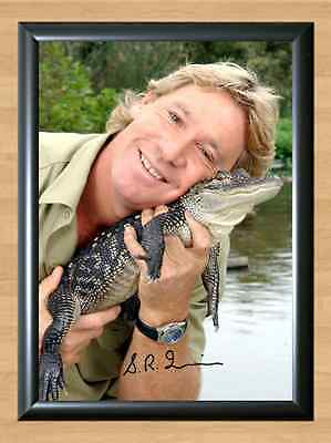 Steve Irwin The Crocodile Hunter Nature Signed Autographed A4 Print Photo TV DVD